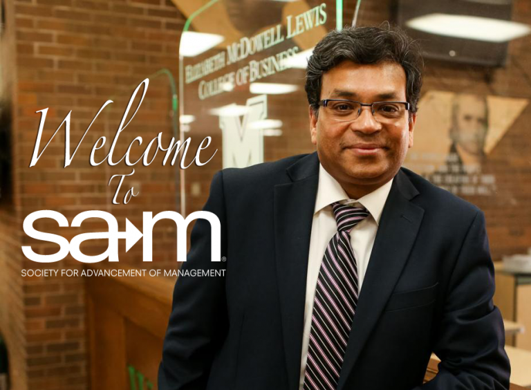 Image of Welcome Banner For A message from SAM President Dr. Avi Mukherjee