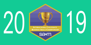 Recognition Banner for partipating chapters in the 2019 International Collegiate Business Skills Championships